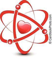 Atom con corazón dentro