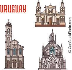 Atracción turística Uruguay, monumentos de arquitectura