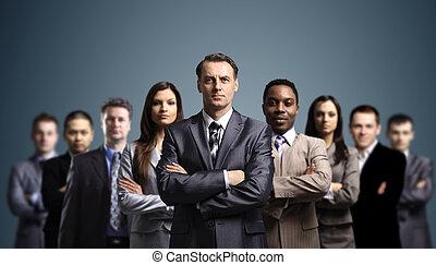 atractivo, joven, empresarios