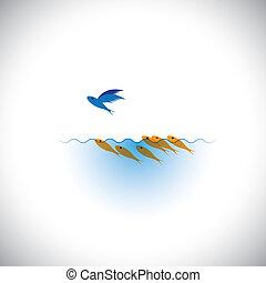atrevido, diferente, ser, -, liderazgo, toma, vector, concep, riesgo