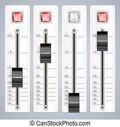 Audio mezclando consola