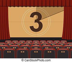 Auditorio de cine con asientos