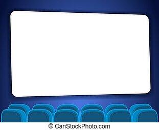 Auditorio de cine con pantalla