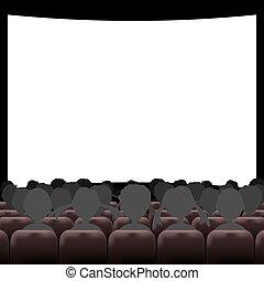 Auditorio de cine con pantalla y asientos