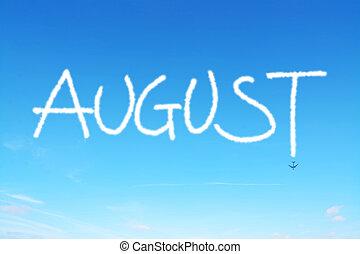 August escrito en el cielo