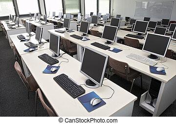 aula, computadora, 4