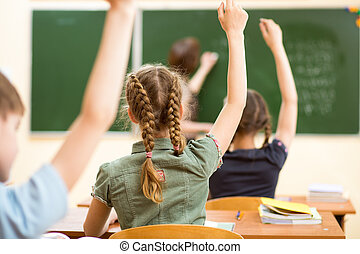 aula, lección de la escuela, niños
