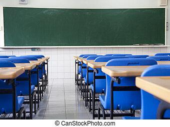 Aula vacía de escuela