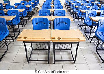 Aula vacía en la escuela