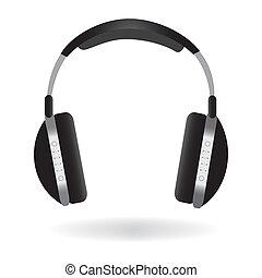 auriculares, ilustración