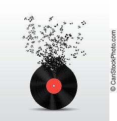 Austrar la ilustración de vector de fondo de música para tu diseño