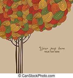 Austrar la ilustración del árbol de otoño