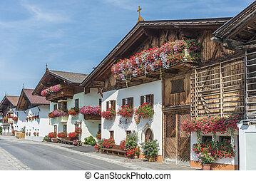 austria., aldea, mutters, innsbruck