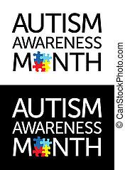 autism, conocimiento, mes