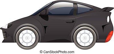 Auto deportivo de color negro