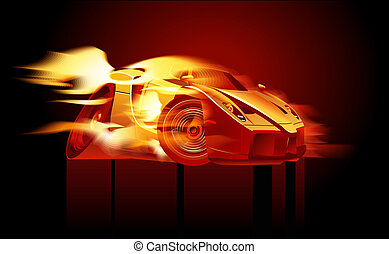 Auto deportivo de dibujos animados