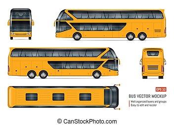 Autobús de vectores realistas