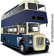 Autobús doble azul