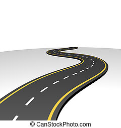 Autopista abstracta yendo al horizonte