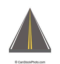 Autopista curvado y ditrección con marcas