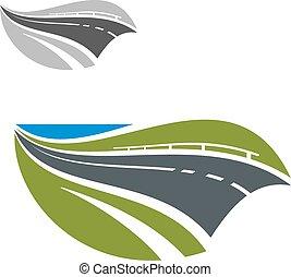 Autopista moderna o icono abstracto