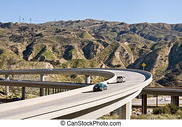 autopista, paso superior