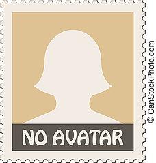 avatar femenino vector