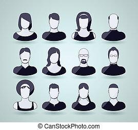 avatar, iconos