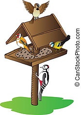 aves, alimentador