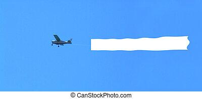 Avión en blanco
