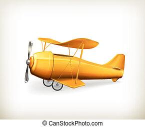Avión, icono del vector