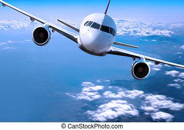 Avión sobre las nubes,