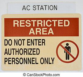 aviso, acceso restringido, gente