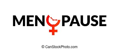 awareness., reloj, período, edad, fertilidad, menstrual, menopausia, icono, mujer