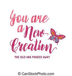 away., tiene, creation;, nuevo, pasado, viejo, usted