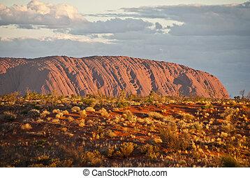 Ayers rock, territorio del norte, australia, agosto de 2009