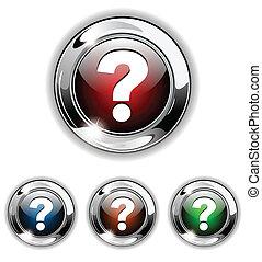 Ayuda a icono, botón, vector ilustrado