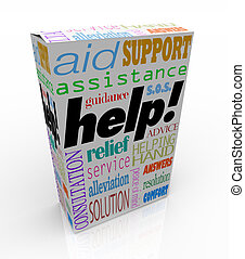 Ayuda a las palabras de asistencia en el apoyo al cliente