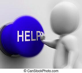 Ayuda a presionar muestra ayuda y ayuda