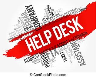 Ayuda al collage de la palabra de escritorio