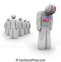 Ayuda... solo la persona está triste y necesita ayuda
