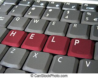 ayuda, teclado
