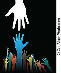 Ayudando manos