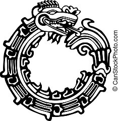 Azteca maya tatuaje de dragón