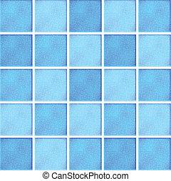azul, azulejos, vector, cerámico