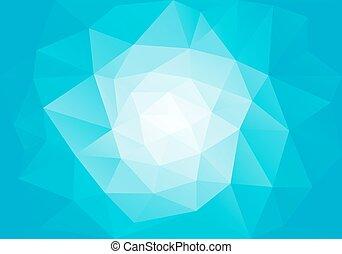 Azul bajo fondo de polígrafo, vector