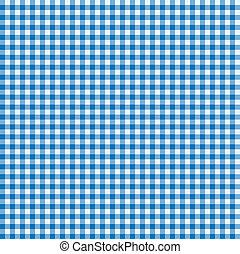 azul, blanco, mantel