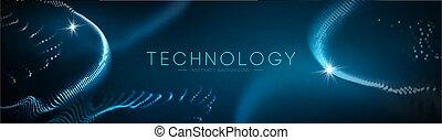 azul, concept., vector., tecnología, resumen, ilustración, ciencia, geométrico, tecnología, plano de fondo, design., empresa / negocio, futurista, red
