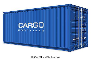 azul, contenedor carga