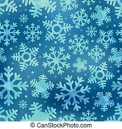 azul, diferente, copos de nieve, resumen, seamless, plano de fondo, set.